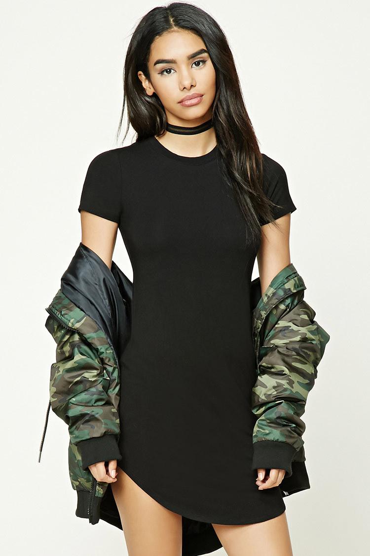 black-shirt-dress