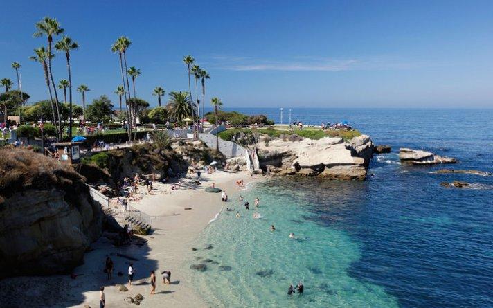 Beach in La Jolla, California, USA.