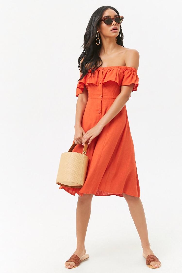 f21 off the shoulder dress